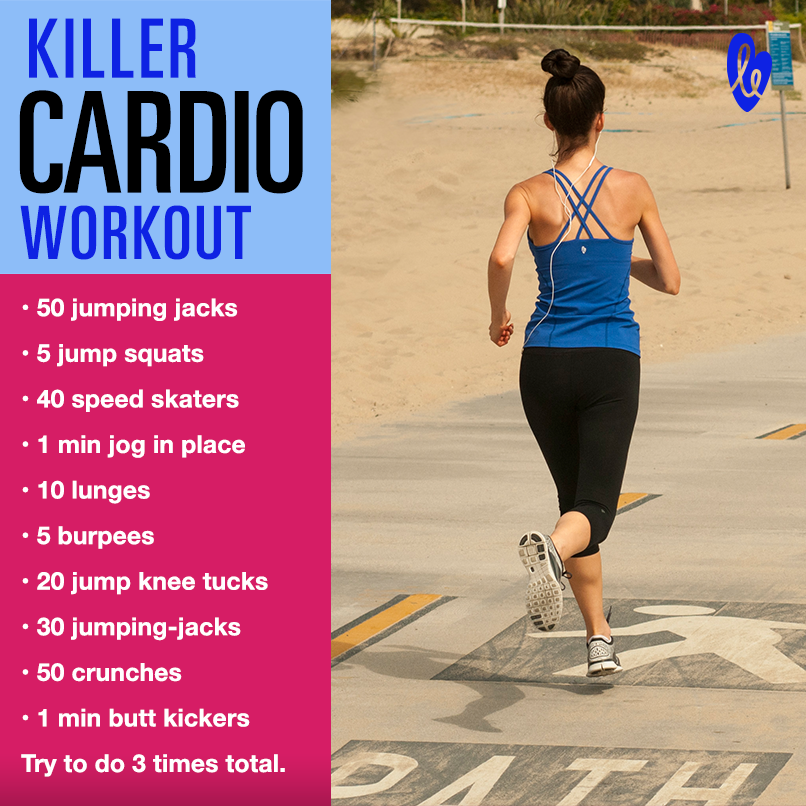 cardio workouts This at home cardio workout is perfect for a 30 minute window when you need to get your exercise in yeah i have no clue either i'm just sitting down for a minute and then it's bath time for ava this is a sunday cardio workout for weeks and repeat each set of exercises 3 times with a 1 minute break in between each set.
